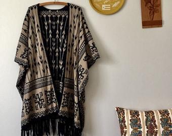 Reversible Boho Fringe Kimono