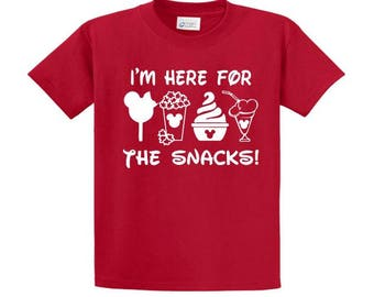 Disney Mickey t-shirt I'm here for the snacks!
