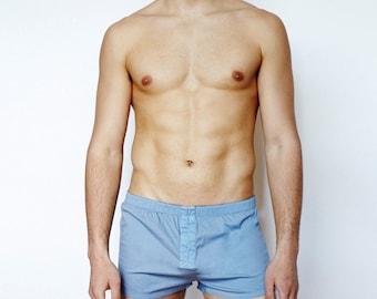 Mens Short Boxer Underwear - Indigo