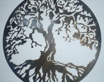 "Tree Of Life, Metal Art - Antique Finish, 23.5"" (60 cm)"