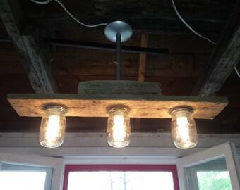luminaire triple wooden barn