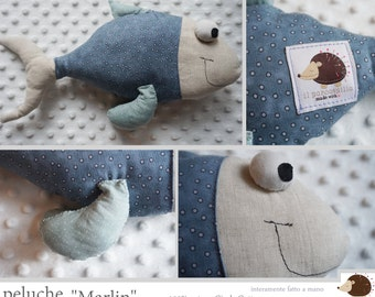 100% Handmade plush fish-Marlin