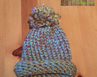 New born Hat knitted fall colors