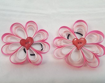 2 Loopy Valentines Bows