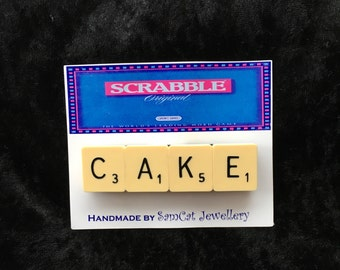 Vintage Cream Scrabble Tile Magnets