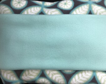 Blue and Sea Foam Wheelchair Blanket
