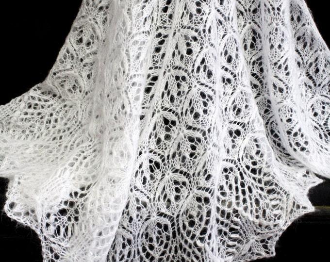 Wedding shawl, wedding cape, wedding accessory, shawl white, shawl mohair, hand knit shawl, crochet shawl, lace shawl, knit shawl