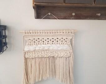 Macrame and Weaving Wall Hanging