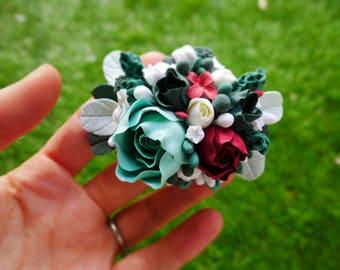 Brooch, Flowers, DecoClay, Clay, Gift, Handmade, Wedding Jewellery