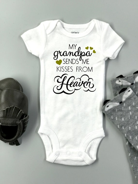 custom memorial baby onesie 174 baby bodysuit my grandpa
