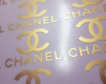 Set of 15 Chanel stickers  Designer logo Planner sticker Envelope seals Chanel party Gift wrapping Famous logo