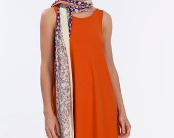 Sun Dress in Orange - Swing Dress