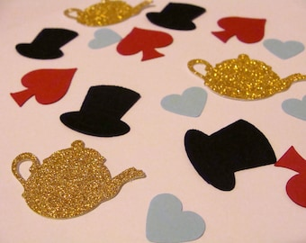 Alice in Wonderland Confetti-100 ct -Mad Hatter Confetti, Tea Party Confetti, Alice in Wonderland Table decor, Mad Hatter Tea Party Confetti