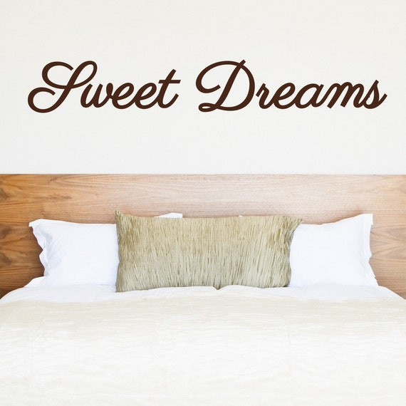 Sweet Dreams Wall Decal - Vinyl Lettering - Vinyl Wall Decal - Home Decor - Bedroom Ideas - Nursing Room Decor - Wall sticker
