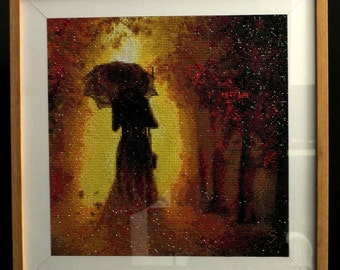 Magic umbrella.  Diamond painting mosaic. Free UK delivery