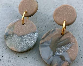 Bambino Earrings - Rose / Stud Earrings / Drop Earrings / Abstract Earrings / Modern Earrings