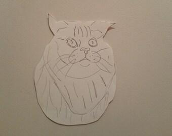 Personalised Cat Portrait Pattern 3