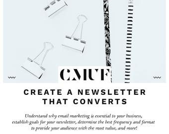 Your Blueprint: Creating A Newsletter That Converts Workbook
