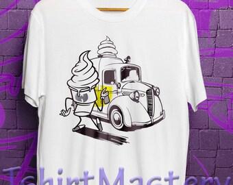 Wu tang cream car shirt, model 1