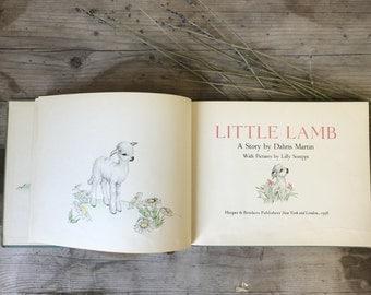 Little Lamb Vintage Hardback book, children's book, antique book, Baba lamb story
