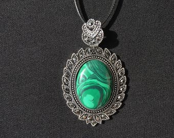 Malachite pendant малахитовый кулон