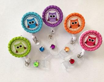 Owl badge reel
