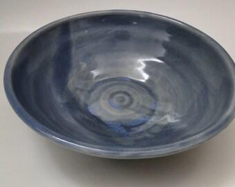 Vintage Ceramic Pottery Bowl / Large Bowl / Handmade Bowl / Ceramic Dish