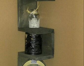 Rustic, Corner Shelf, Wall Shelf, Wood Shelf