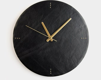 Luna Leather Wall Clock Modern Wall Clock Valentines Day