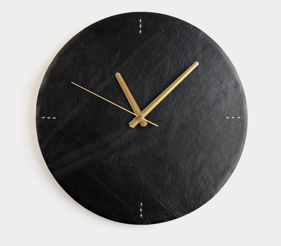 contemporary wall clocks modern clock black leather wall clock modern wall clock 11805