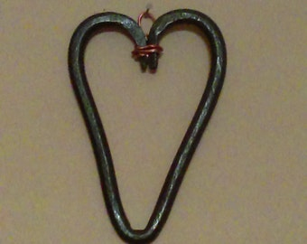 Heart, handforged heart, hanging heart. Blacksmith heart