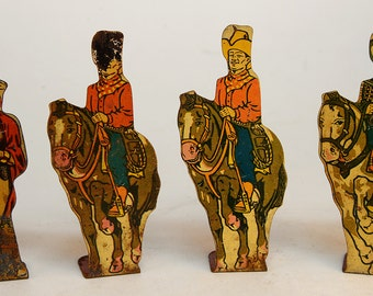 Tin Cowboys and Indian by Marx Toys
