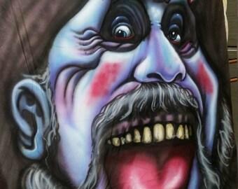 captain spaulding portrait mural
