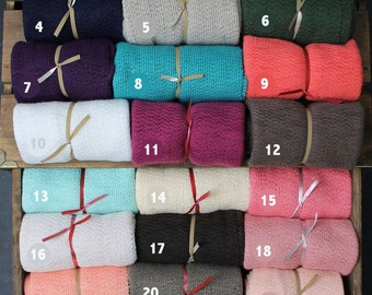 Buy 2 Get 3rd FREE! Stretchy and Soft Newborn Knit Wrap Photography Prop Swaddle Newborns Baby Available in Many Colors / Choose your colors
