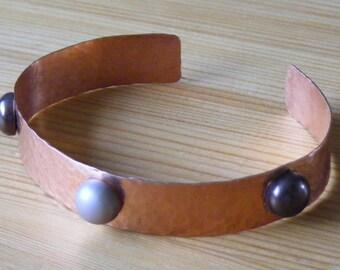 Metal Cuff - Genuine Pearl Shell