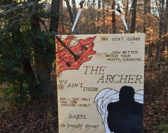 The Walking Dead Daryl Dixon Wood Art