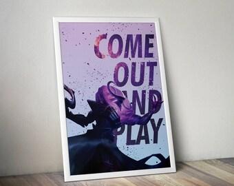 Thresh Posters, League of Legends, LoL Poster, League of Legends Art, League Gifts