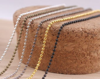 100x 2.4mm Fashion Necklace Ball Bead Chains for necklace DIY Jewelry Making Accessories 70cm 27.5 inch
