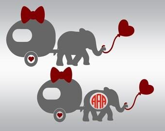 Valentines day svg, Elephant svg, Camping svg, Camper svg, Valentine svg, Heart svg, Elephant balloon svg, Cricut, Cameo, Svg, DXF, Png, Eps