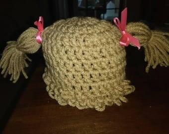 Cabbage Patch Kid beanie for newborn