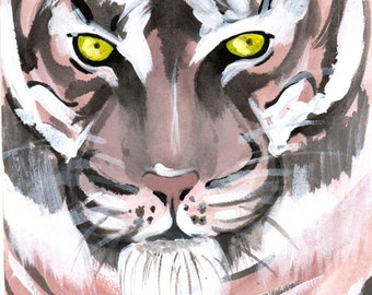 Acrylic Tiger Painting, Print from Original Work