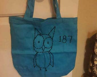 Blue Owl Tote