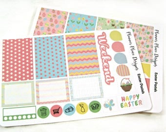 Planner Stickers - Weekly Planner Stickers - Happy Planner Stickers - Day Designer - Functional Stickers - Easter Pastel Stickers
