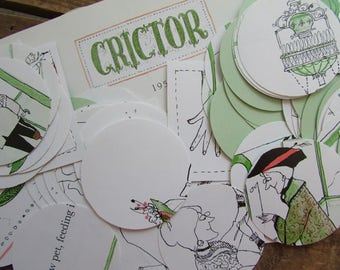 Book Page Circles Crictor Children's Book Die Cuts Table Scatter Craft Supply