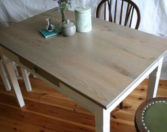 """grey kitchen table """"Grenouille"""" in oak"""
