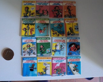 """Miniature comic books """"Gaston"""", 1:12th scale"""