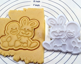 Duck and Bunny Cookie Cutter and Stamp