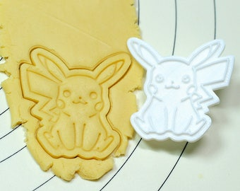 Pikachu Cookie Cutter and Stamp