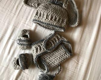 Elephant Crochet Neeborn Outfit