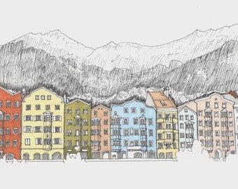 Custom Scene Illustration - Building Detail